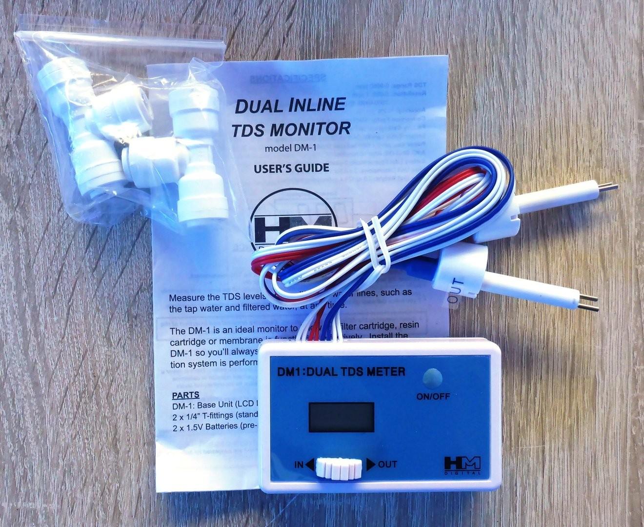 Inline Dual TDS Meter mit 2 Sensoren